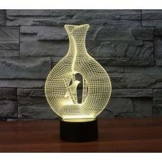 3D LED Светильник Птица