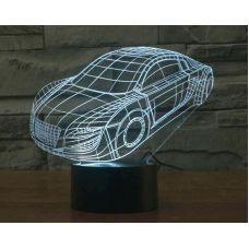 3D LED Светильник Машина