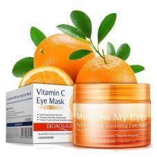 Патчи BioAqua Moisten My Eyes Orange & Green Tea Extracts 36 шт