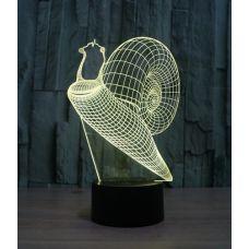 Объемный 3D светильник Улитка